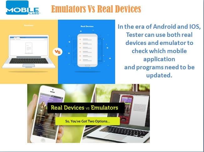Real Devices Vs Emualtors