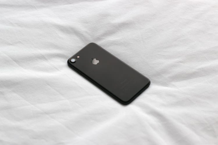 iPhone on the Bed