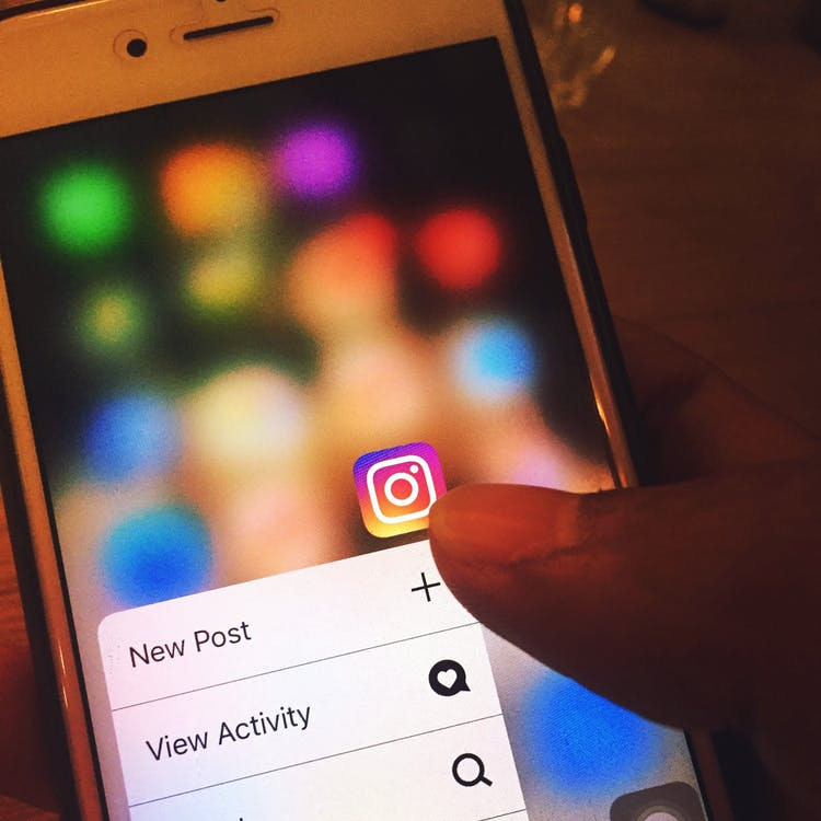 Posting on Instagram