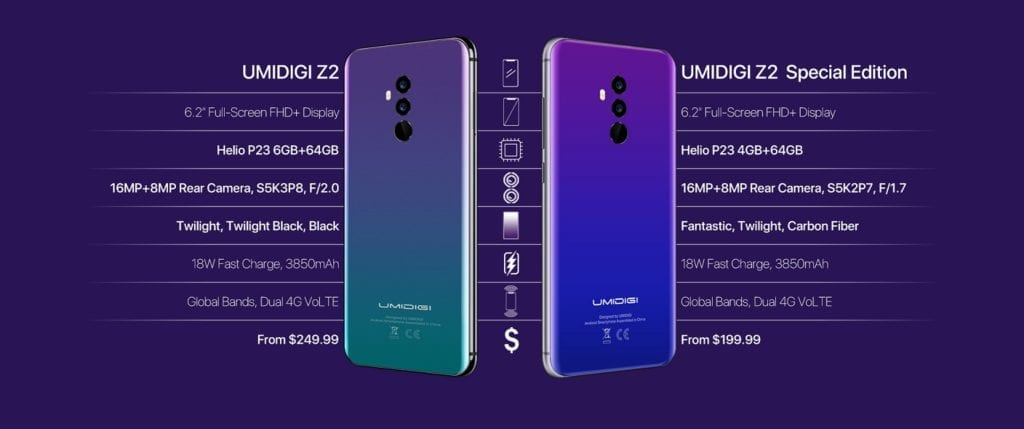 Differences between the UMIDIGI Z2 Special Edition and the ordinary UMIDIGI Z2