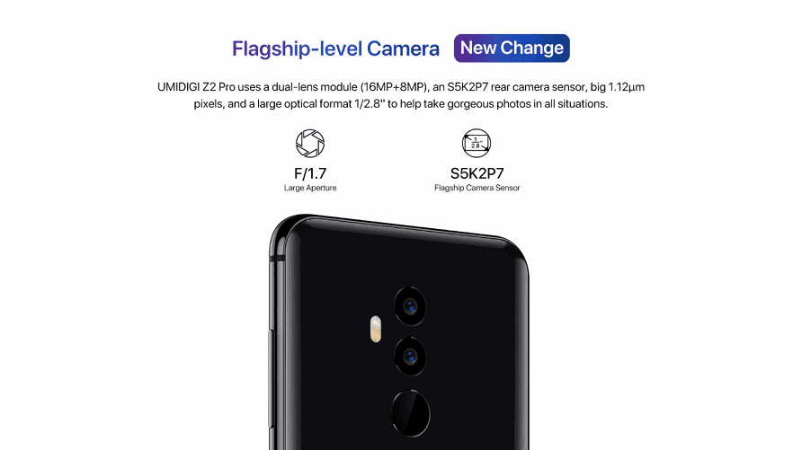 UmiDigi Z2 Pro rear Camera