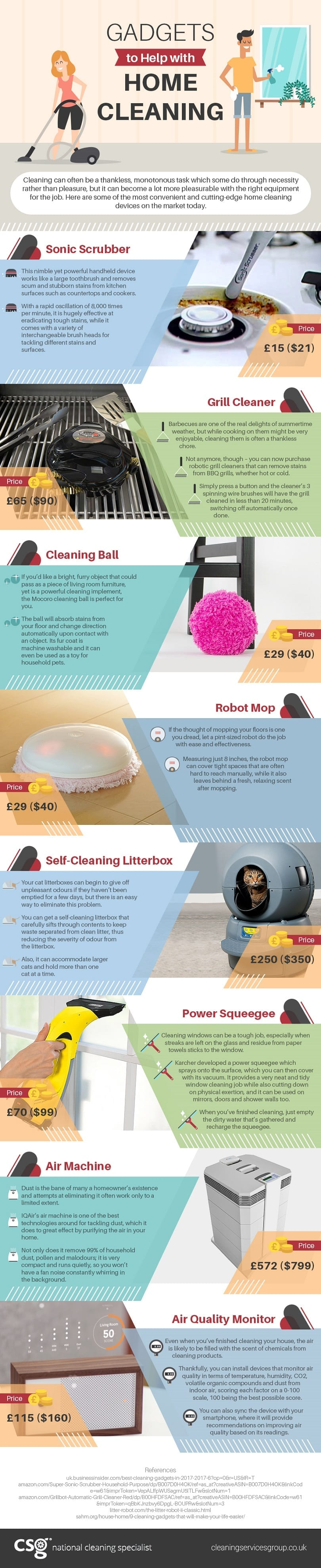 Gadgets to Help in home Cleaning (Infographic)