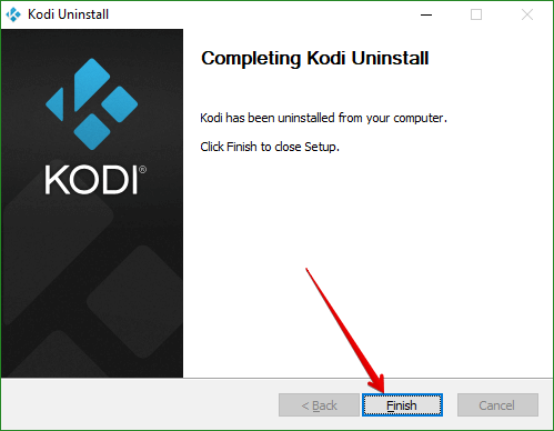 Kodi Uninstall Complete