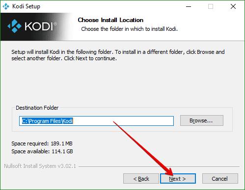 Install Kodi v18