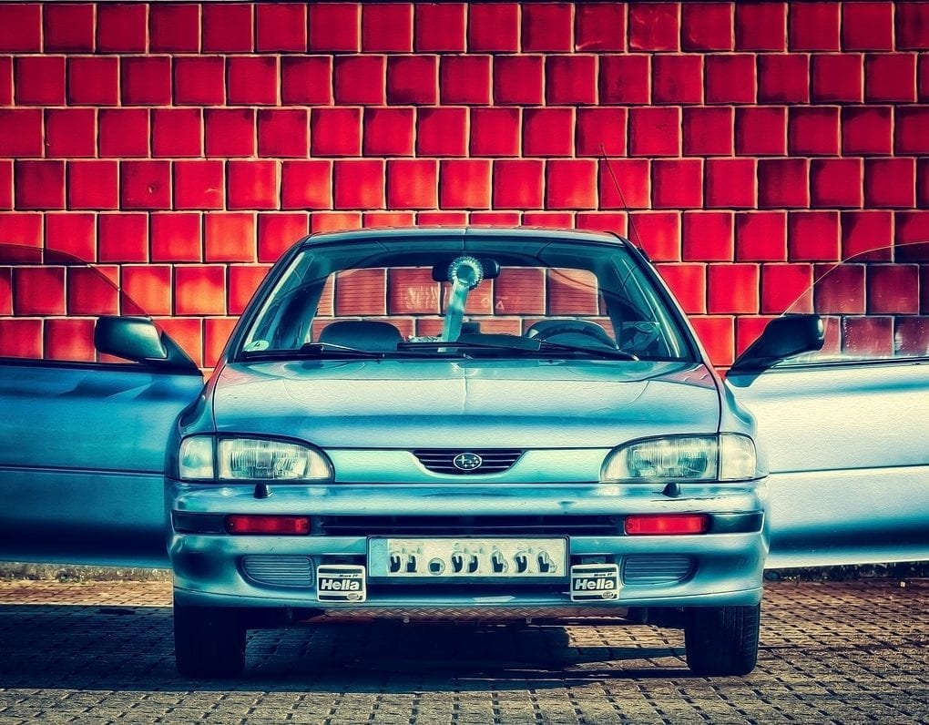 Car with Open Front Doors