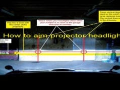 How to aim projector headlights
