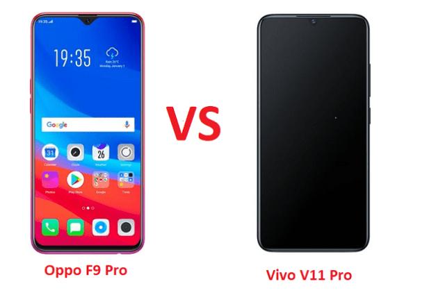 Oppo F9 Pro vs Vivo V11 Pro