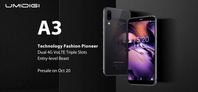 UMIDIGI A3 Launch