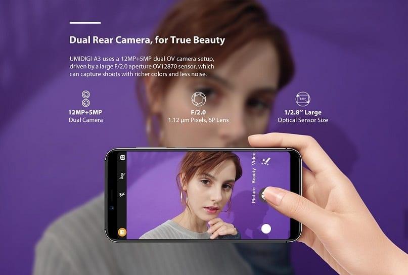 UMIDIGI A3 Camera