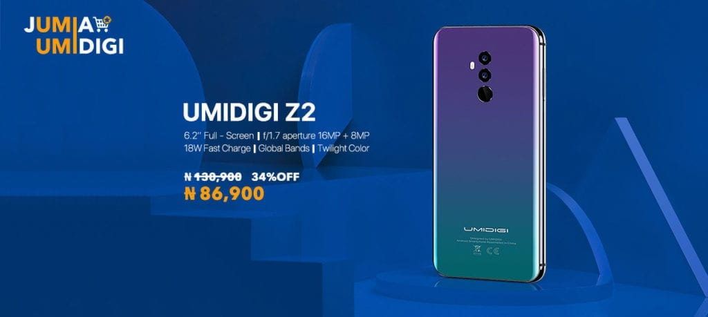 UmiDigi Z2 offer on Jumia