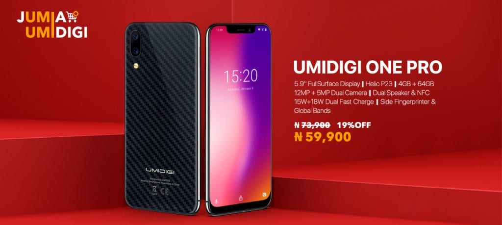 Umidigi One Pro offer on Jumia