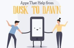 Apps that Help from Dusk to Dawn (Infographic)