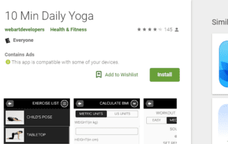 10 Minute Daily Yoga App