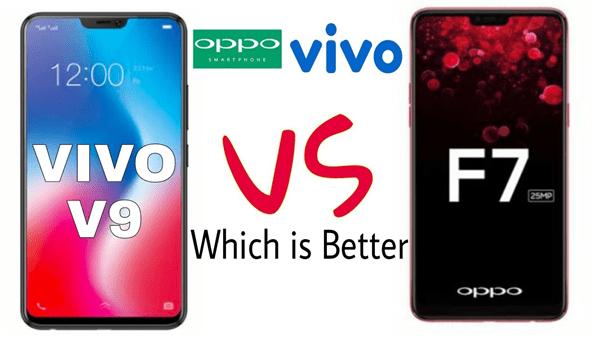 Oppo F7 vs Vivo V9