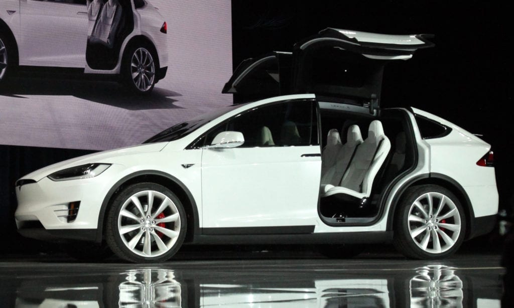 A Model X at the market launch ceremony