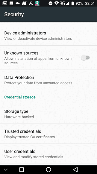 Unknown Sources in Android Settings