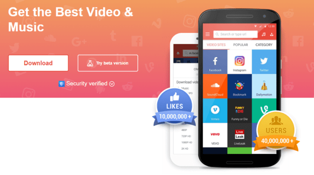 Snaptube: Free Video & Music Download App for Android