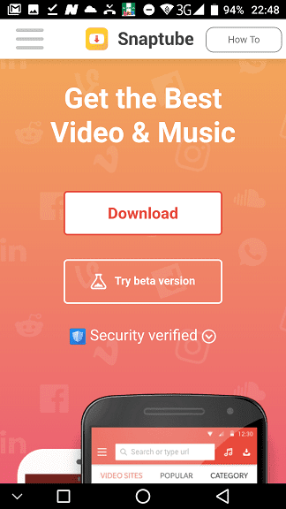 Snaptube: Free Video & Music Download App for Android - Nigeria