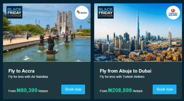 TravelStart Black Friday Flight Deals