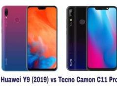 Huawei Y9 (2019) vs Tecno Camon 11 Pro