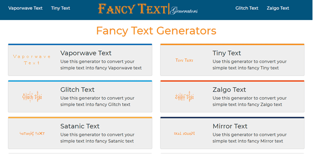 Make Text Fancy and Cool