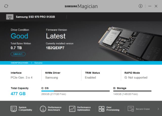 Samsung NVMe SSD problem