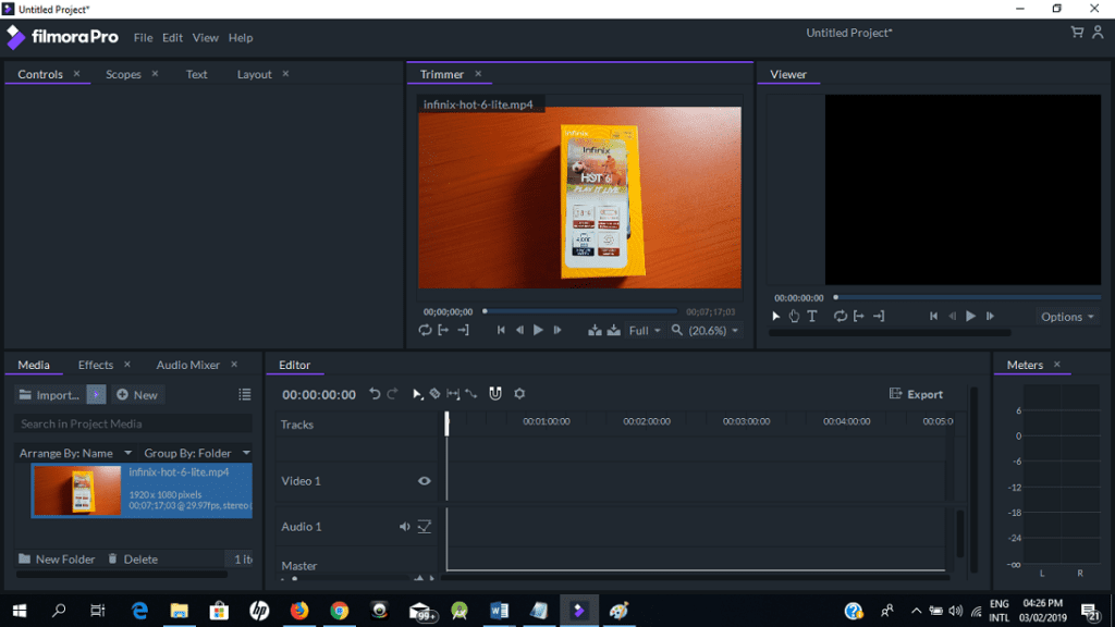 Import Video and Audio to Filmora Pro
