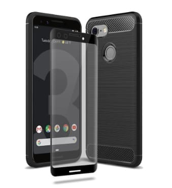 Olixar Sentinel Case and Glass Screen Protector for Google Pixel 3