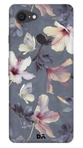Butterflies and hibiscus flowers case cover for Google Pixel 3