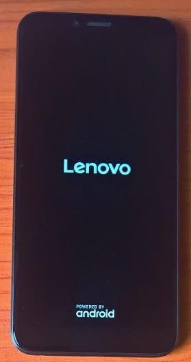 Lenovo K5 Play Booting first screen