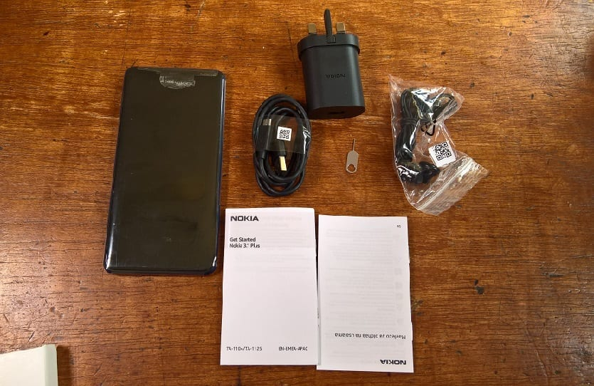 Nokia 3.1 Plus Unboxing Showing Everything Inside the Box: SIM Ejector Pin, Charger