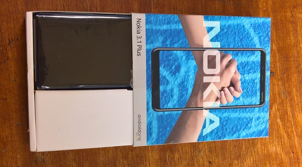 Opening Nokia 3.1 Plus Box