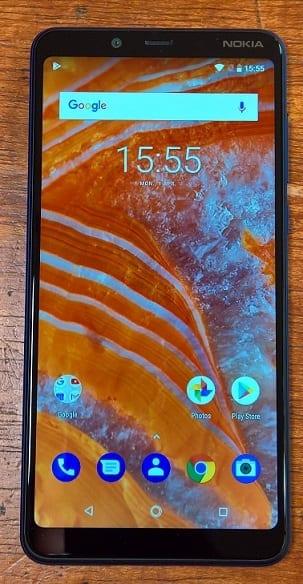 Nokia 3.1 Plus Homescreen with Android 8.1 Oreo