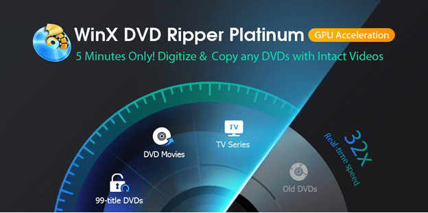 WinX DVD Ripper Pro Platinum - Easily Convert any DVD to Video with Only 5 Minutes