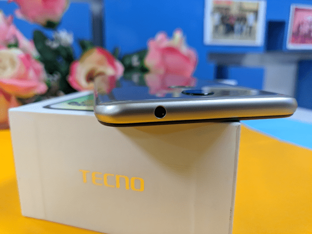 Tecno Pouvoir 3 top side showing the 3.5mm audio jack
