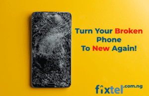 broken phone screen repair fixtel lagos