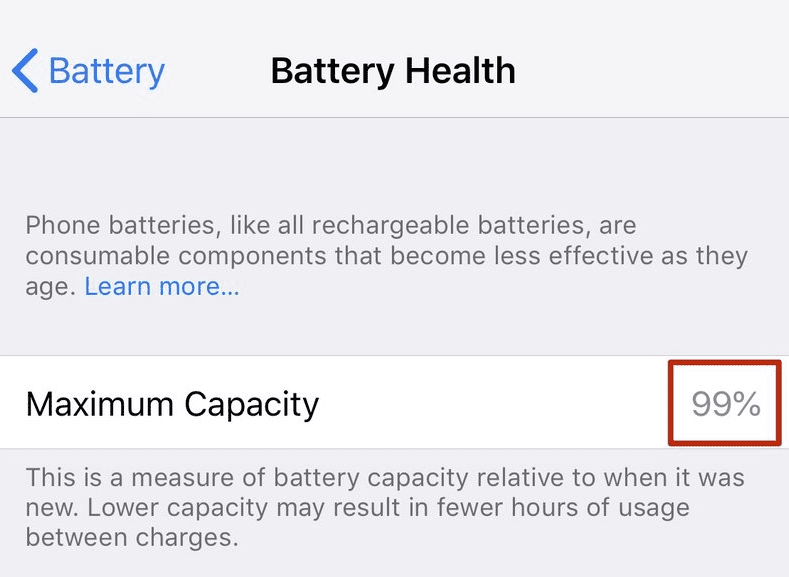 How To Check The Maximum Capacity of Your iPhone Battery
