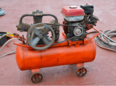Red Air Compressor