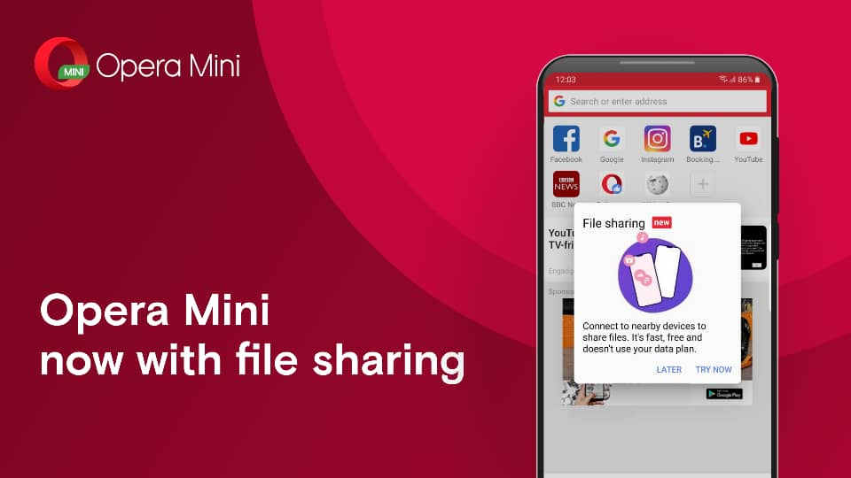 Opera Mini Becomes the First Browser to Introduce Offline File Sharing