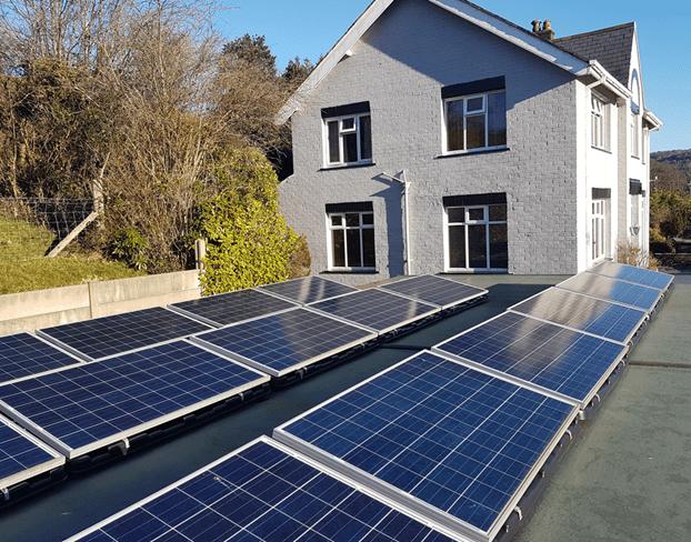Solar Panels Outside a Home