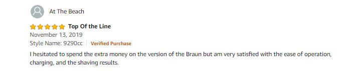 Braun Series 9 9290cc Electric Razor Review