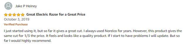 HATTEKER Electric Shaver Review