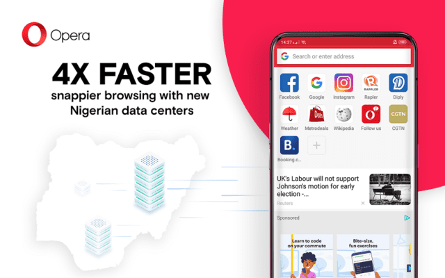 Opera makes Browsing four times faster in Nigeria