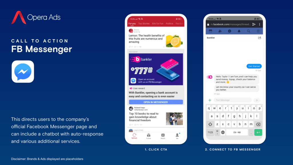 Opera Ads on Facebook Messenger