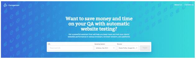 Comparium Website Testing Tool
