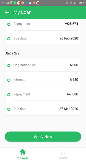 OKash 30,000 Naira Loan