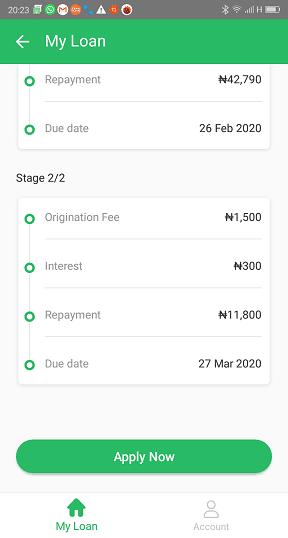 OKash 50,000 Naira Loan