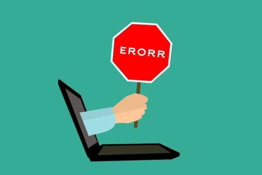 Commons Error Messages for a Laptop
