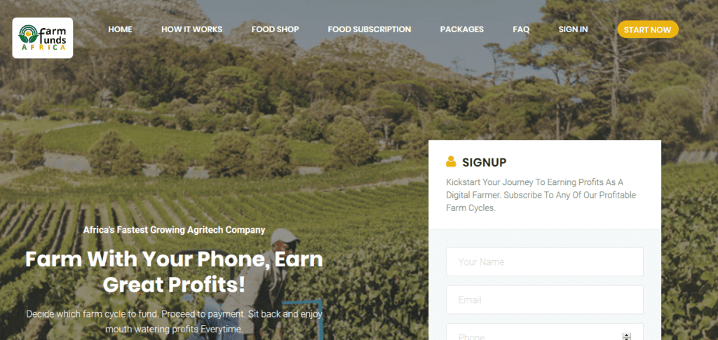 FarmFunds Africa Investment Platform