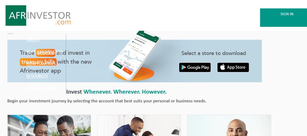 Afrinvestor Investment app